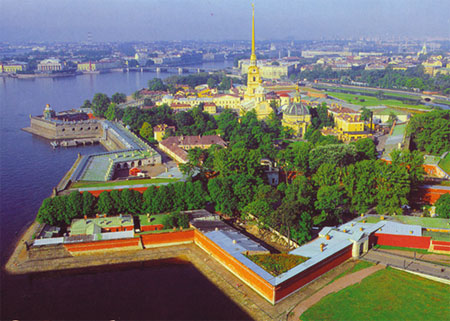 Peter and Paul Fortress - first building in St.Petersburg